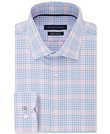 Men's Big & Tall Slim-Fit Non-Iron THFlex Supima® Stretch Blossom Check Dress Shirt