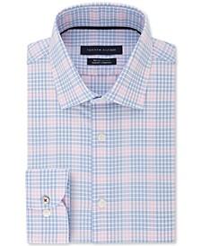 Men's Big & Tall Slim-Fit Non-Iron THFlex Supima® Stretch Blossom Check Dress Shirt