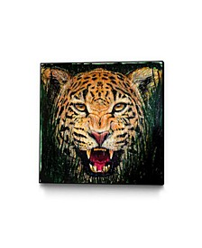 "Dino Tomic Jaguar Art Block Framed Canvas 24"" x 24"""