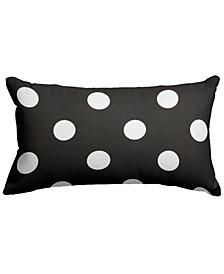 "Large Polka Dot Decorative Soft Throw Pillow Small 20"" x 12"""