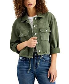 Cotton Cuffed-Sleeve Jacket