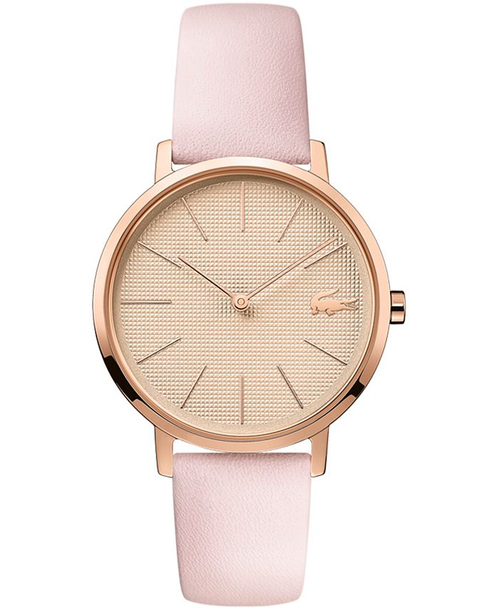 Lacoste - Women's Moon Pink Leather Strap Watch 35mm
