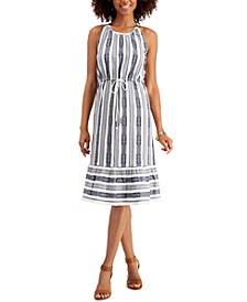 Petite Jacquard Cotton Shift Dress, Created for Macy's