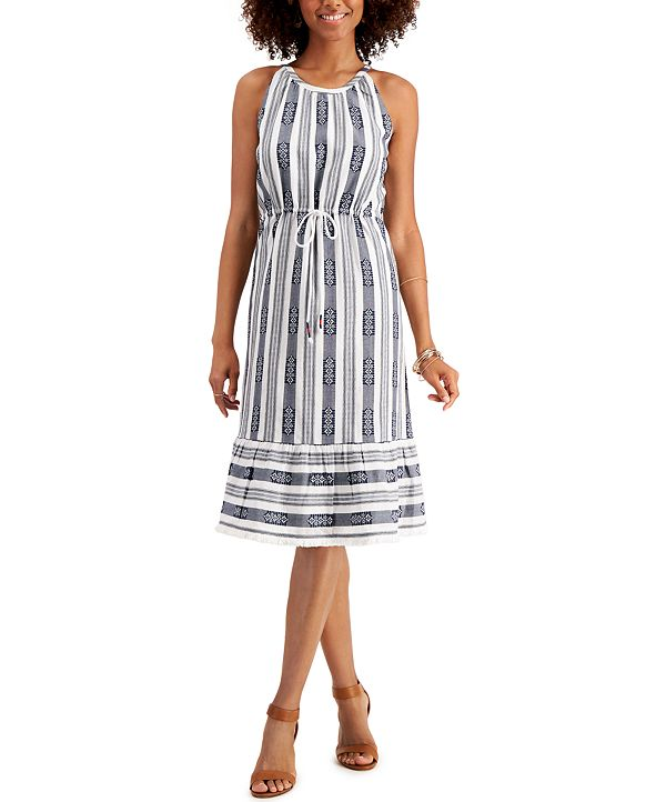 Style & Co Petite Jacquard Cotton Shift Dress, Created for Macy's