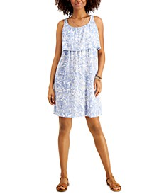 Floral-Printed Popover Midi Dress, Created for Macy's