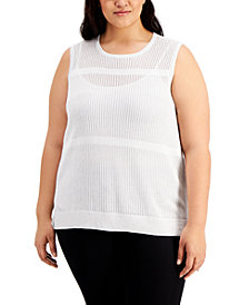 Calvin Klein Plus Size Sleeveless Sweater