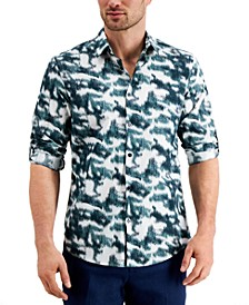 Men's Classic-Fit Ikat-Print Utility Shirt, Created for Macy's