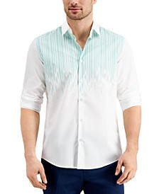 Men's Luke Drop Printed Cotton Shirt, Created for Macy's