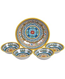 Portofino 5-Pc. Melamine Salad/Serving Set
