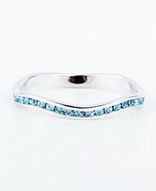 Swarovski Crystal Birthstone Stackable ring in Sterling Silver