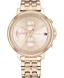 Women's Chronograph Carnation Gold-Tone Stainless Steel Bracelet Watch 38mm