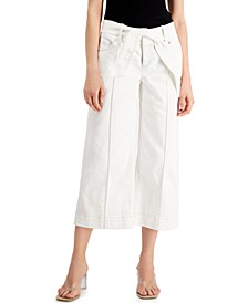 INC Tie-Waist Culotte Pants, Created for Macy's