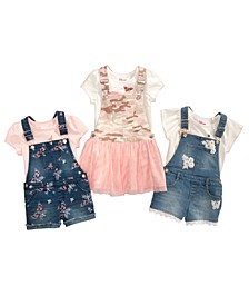 Little Girls T-Shirts, Shortalls & Skirtalls, Created for Macy's