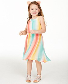 Toddler Girls Striped High-Low Dress, Created for Macy's