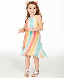 Epic Threads Toddler Girls Striped High-Low Dress, Created for Macy's