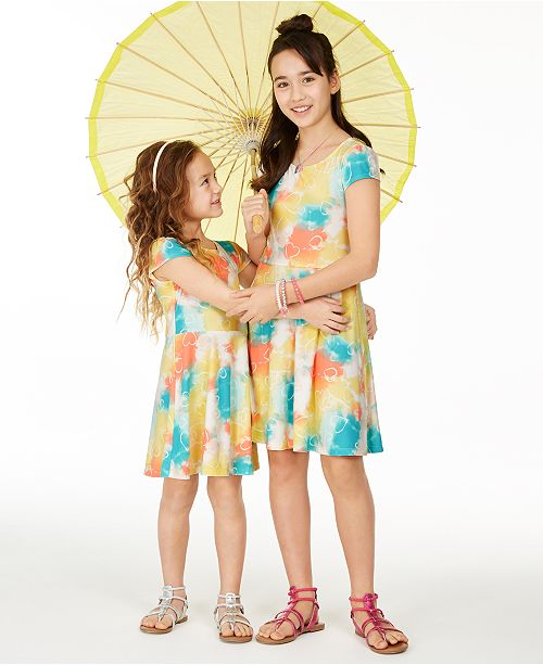 Epic Threads Little & Big Girls Tie-Dye Heart-Print Dress Separates, Created for Macy's