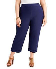 Plus Size Cuffed Crop Pants