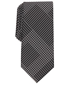 Men's Campbell Grid Necktie, Created for Macy's