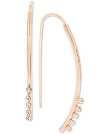 Pavé Stick Threader Earrings