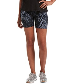 Women's Leopard-Print Bike Shorts