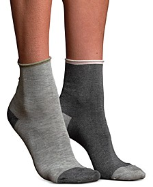 Women's Mismatched Silk Anklet Socks