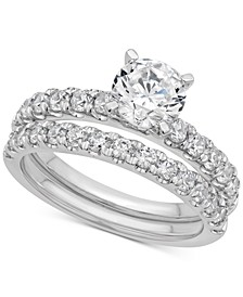 Certified Diamond Bridal Set (2 ct. t.w.) in 14k White Gold