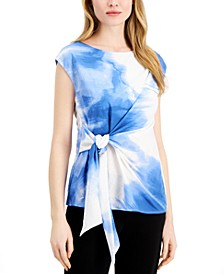 Petite Printed Side-Tie Top, Created for Macy's