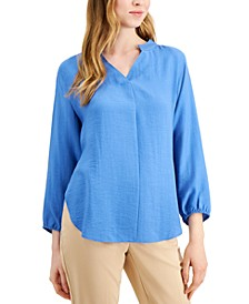 Bishop-Sleeve Tie-Back Top, Created for Macy's