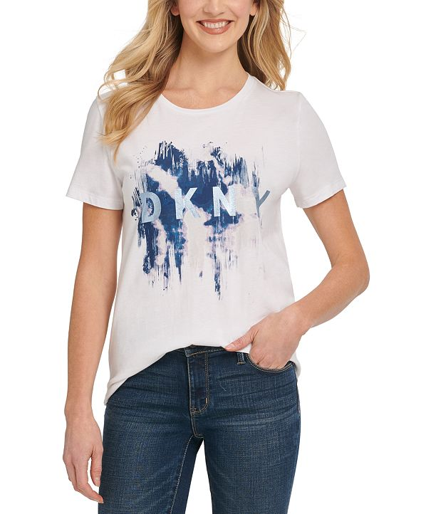 DKNY Metallic Graphic T-Shirt