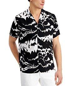 INC Men's Abstract-Print Camp Shirt, Created for Macy's