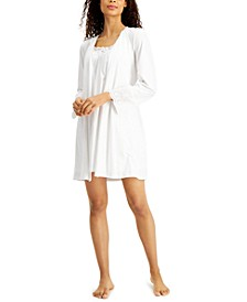 Lace & Eyelet Nightgown & Robe Set, Created for Macy's