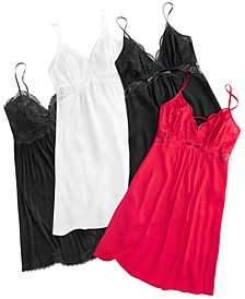 INC Up All Night Heavenly Soft Lace Chemise Collection, Created for Macy's