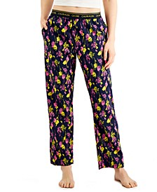 CK One Printed Cotton Pajama Pants