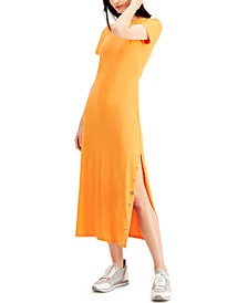 Grommet-Trim Maxi Dress, Regular & Petite Sizes