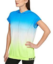 Sport Tie-Dyed Seamless Cap-Sleeve Hoodie