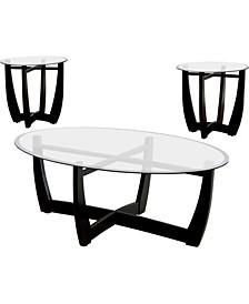 Jane Black 3-Piece Table Set