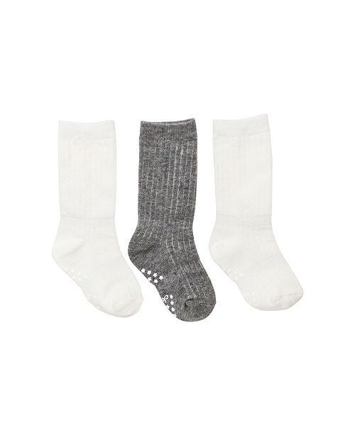 Cheski Sock Company Baby Boy and Girl Ribbed Knee Socks, Pack of 3