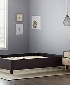 Upholstered Platform Bed with Slats, Queen