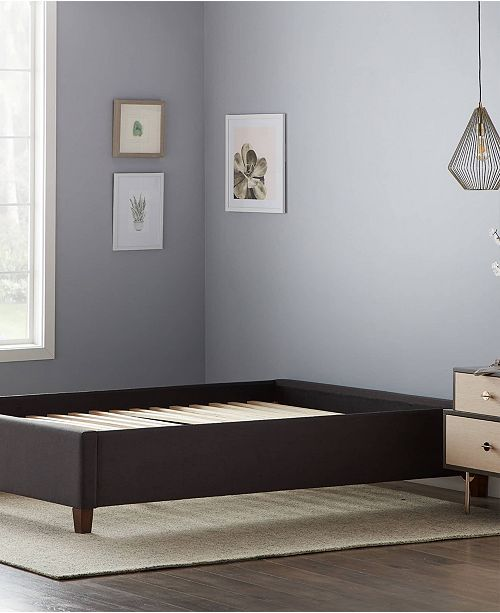 Dream Collection Upholstered Platform Bed With Slats Full Reviews Furniture Macy S