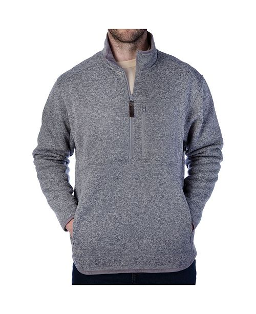 Smith's Workwear Men's Quarter-Zip Sweater
