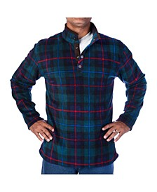 Men's Plaid Henley Pullover