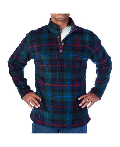 Smith's Workwear Men's Plaid Henley Pullover