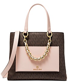 Signature Cece Small Ribbon Chain Messenger Bag