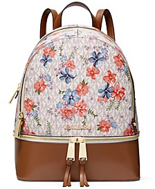 Rhea Signature Floral Zip Backpack