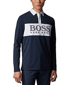 BOSS Men's Plisy 1 Long-Sleeved Polo Shirt