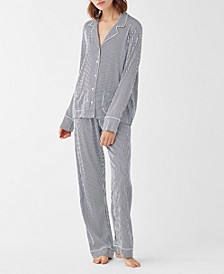 Women's Notch Collar Pajama Set, Online Only