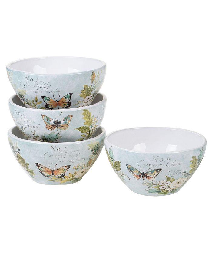 Certified International - Nature Garden 4-Pc. Ice Cream Bowls asst.