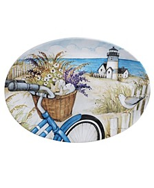By the Sea Oval Platter