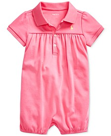 Baby Girls Interlock Bubble Cotton Shortall