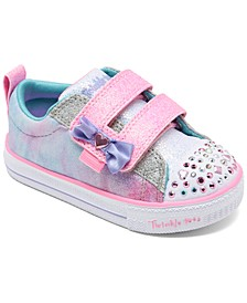 Toddler Girls Twinkle Toes Shuffle Lites Sweet Supply Stay-Put closure Casual Sneakers from Finish Line